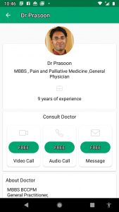 Dr Prasoon profile in Dofody showing experience
