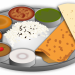 Indian food plate animation